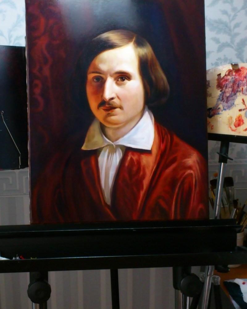 Картина на мольберте. Портрет на заказ.