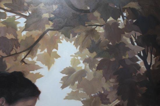 Урок по живописи. Цветной слой. Картина в работе.