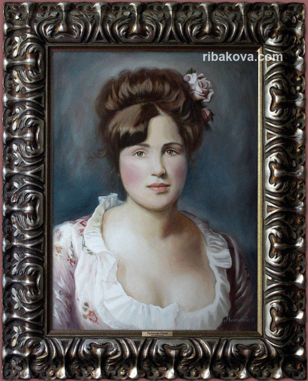 Маслом портрет александры портрет