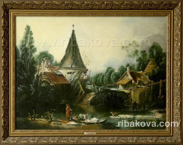 Картина маслом пейзаж в окрестностях